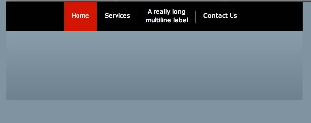 ToggleButtonBar w/ Separators, Multiline & Solid Color State Attributes
